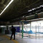 広島駅改良工事 Vol.14 駅事務所(1番ホーム上)の解体開始