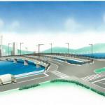 商工センター新八幡川橋付近が4車線化へ。南道路海田高架の検討も