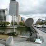 平和大橋歩道橋は2017年度に。欄干も復元へ。
