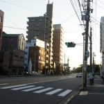 『駅前大橋線敷設予定地』 駅前通り松川町と比治山下を歩く。