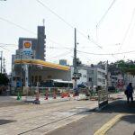 江波電停の改良と舟入通りの拡幅工事
