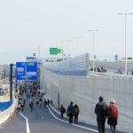 広島南道路(広島高速)建設工事 【観音地区】 2014.03 大きく変わった交差点の様子など
