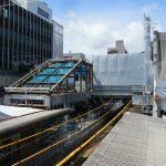広島橋上駅新築他工事 2014.04(Vol.29) 1番乗り場に階段屋根