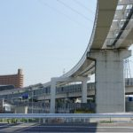 広島高速5号線建設工事 【温品地区】 2014.04 広がる建設用地
