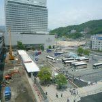広島駅北口広場改良工事 2014.06(Vol.9) 配置の仮変更が完了
