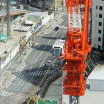 広島駅南口Bブロック再開発工事 2014.09(Vol.21) タワークレーンなど