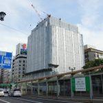 広島マツダ大手町ビル改修工事 2014.09(Vol.4) 外壁の撤去始まる