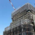 広島駅南口Bブロック再開発工事 2015.06(Vol.30) Aブロックの高さ越す