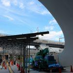 新白島駅建設工事 2015.06(Vol.25) 通路屋根の骨組