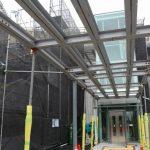 新白島駅建設工事 2015.07(Vol.26) 屋根の拡大