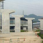 広島高速5号線建設工事 【温品地区】 2015.07 橋脚が完成