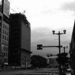 広島マツダ大手町ビル改修工事 2015.07(Vol.10) 増築部の鉄骨工事始まる!
