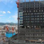 広島駅南口Bブロック再開発工事 2015.07(Vol.31) 20階を突破!