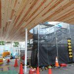 新白島駅建設工事 2015.09(Vol.27) 木材を使用した化粧板