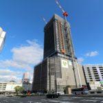 広島駅南口Bブロック再開発工事 2015.11(Vol.35) 西棟140m台へ