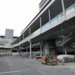 広島駅北口広場改良工事 2016.01(Vol.33) 中央部屋根、完成近づく西側