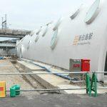 新白島駅周辺整備 2016.07 歩道部等の整備始まる