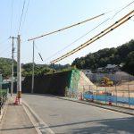 広島高速5号線建設工事 <中山地区> 2016.08 造成進む、トンネル入口付近