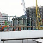 広島駅北 二葉の里5街区再開発 2016.11 (Vol.7) 外壁モックアップなど