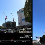 再開発完了記念 広島駅南口の変遷を定点観測で振り返る