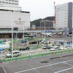 広島駅北口改良工事 2017.03(Vol.48) バス停上屋の整備、改札前にも変化