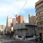 グレース幟町タワー新築工事 2017.05 城南通りの18階建