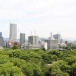 2017年初夏 広島城天守閣から眺める広島市街地