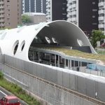 新白島駅周辺整備 2017.06 連絡通路、案内表示など