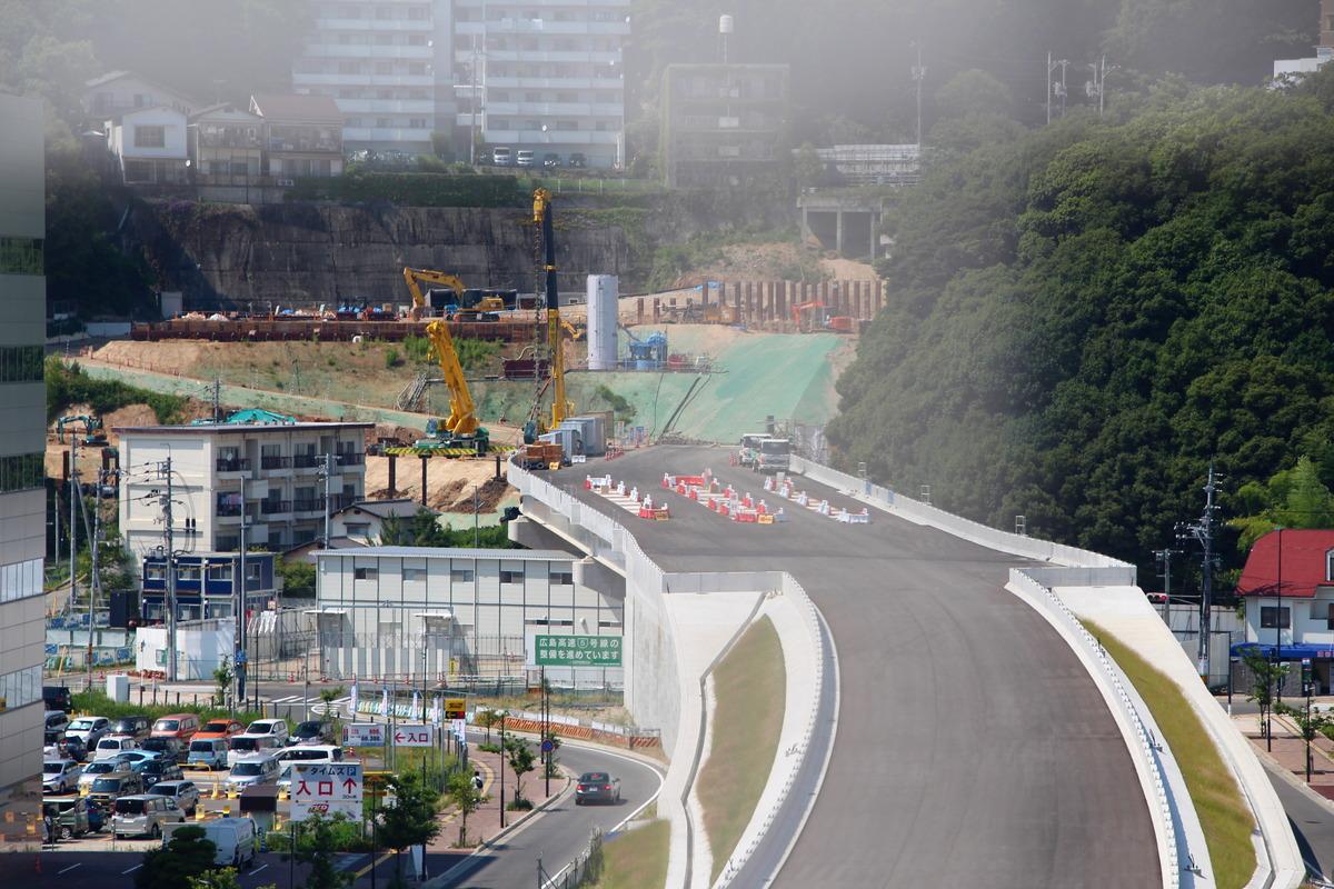 広島高速5号線建設工事 <広島駅北口> 2017.06-07 トンネル入口の造成