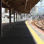 広島駅自由通路新築・橋上化工事 2017.07(Vol.85) 列車停止位置がまもなく変更
