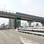 本設橋梁が一部完成!拡幅工事が続く新大州橋周辺 2017.07