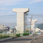 平面交差を解消する『海田高架橋』(東広島バイパス)建設の状況 2017.07