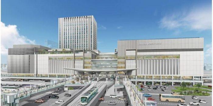 ddcdc7790e 広島市とJR西日本、広島電鉄の3者は、15日共同で会見を開き、 検討を進めてきたJR広島駅南口広場再整備事業に関し、建て替えられる新しい広島駅ビルの概要とイメージ  ...