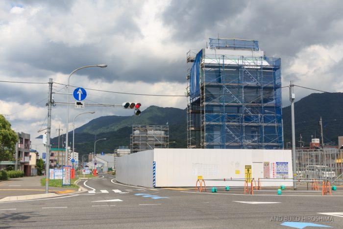 国道2号線バイパス海田高架橋 整備状況 2019.07(Vol.2) 接続する南道路も延伸着工へ!